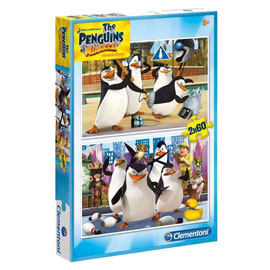 Puzzle  2x60 Pinguins