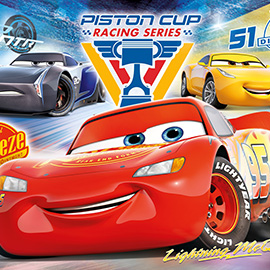 Puzzle 104 Cars, Piston Cup Legends