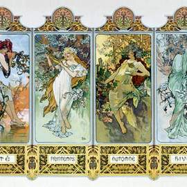 Puzzle 1000 Mucha, The 4 Seasons