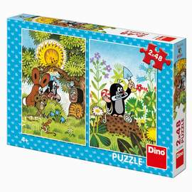 Puzzle 2x48 Maulwurf in Wald