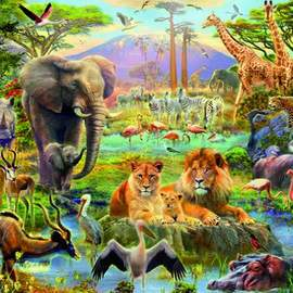 Puzzle 1500 Africa Watering Hole