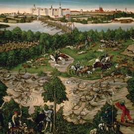 Puzzle 1000 Cranach, Hunting of the Grand Dukes Treatment