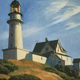 Puzzle 1000 Hopper, Lighthouse at two lights