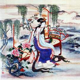 Puzzle 1000 Chinese Art, The beatiful chinese Yang Guifei