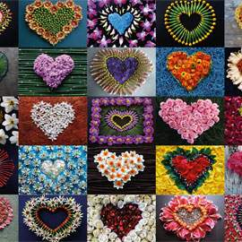 Puzzle 2000 Hearts for Madalene