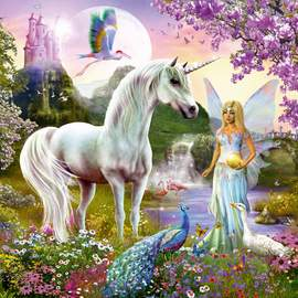 Puzzle 2000 Fairy and unicorn