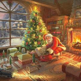 Puzzle 1000 Santa Claus is here!