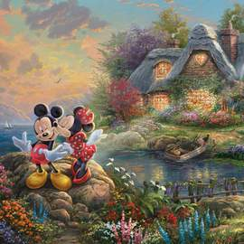 Puzzle 1000 Disney, Mickey&Minnie